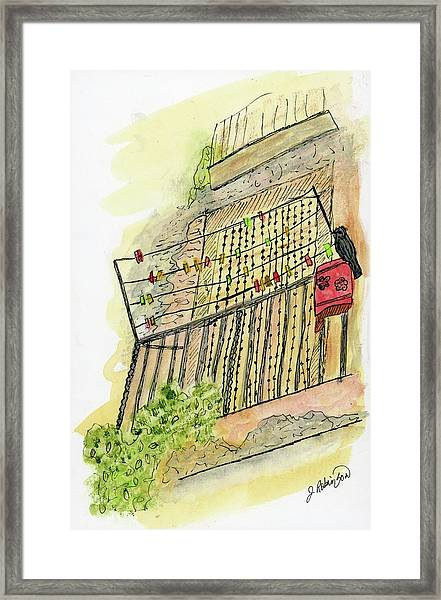 The Flat Across The Alley Framed Print