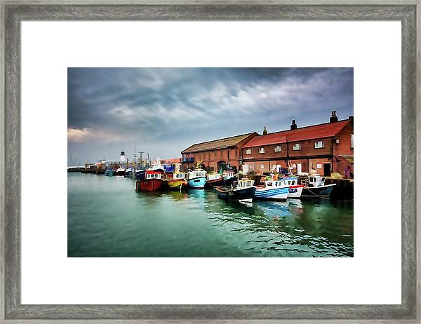 The Fleet Digital Painting Framed Print
