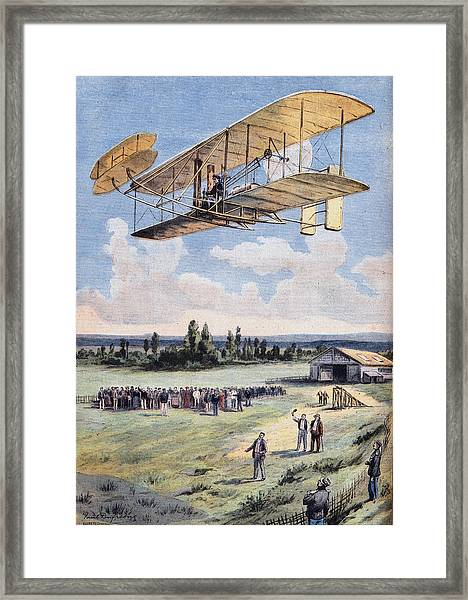 The Flying Men, Wilbur Wright 1867-1912 Framed Print