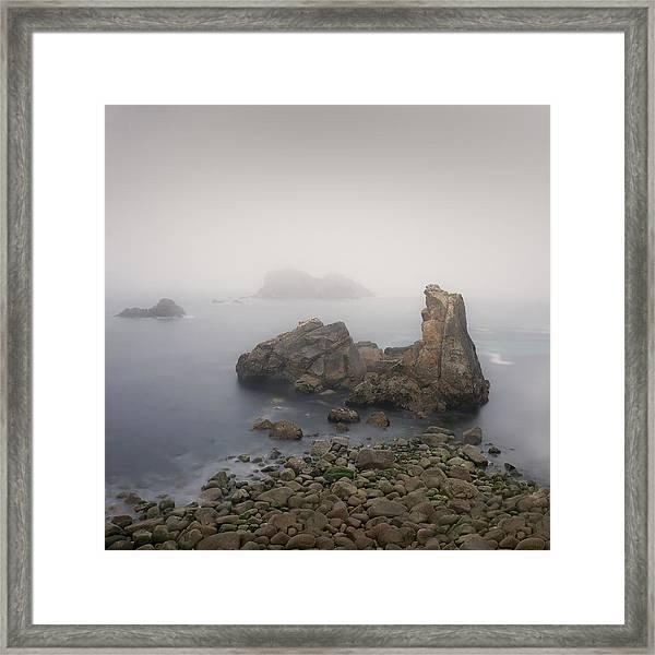 The Fog On The Beach Framed Print