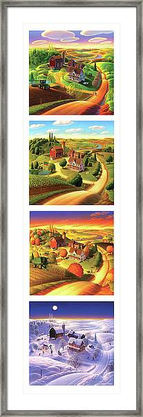 The Four Seasons Vertical Format Framed Print