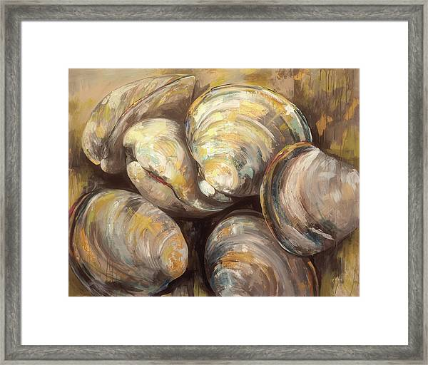 The Gang Of Quahogs Framed Print by Jeanette Vertentes