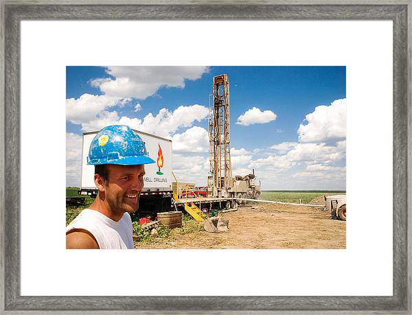 The Gas Man Framed Print
