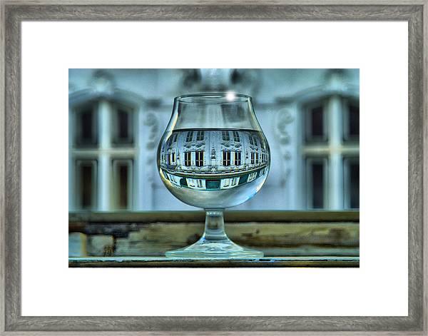 The Glass - Living Upside Down Framed Print