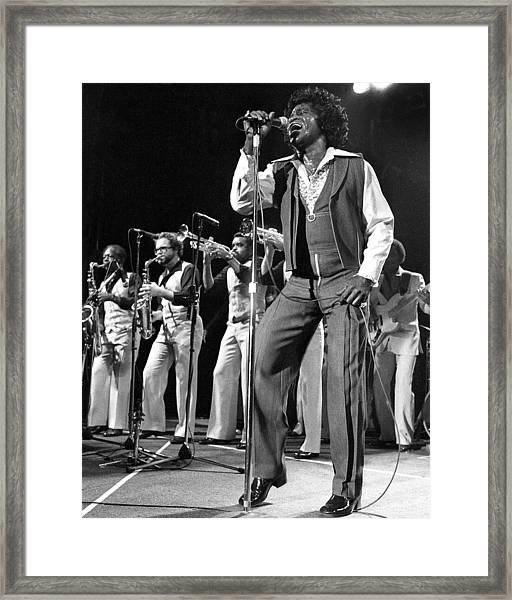 The Godfather Of Soul James Brown Framed Print by New York Daily News Archive