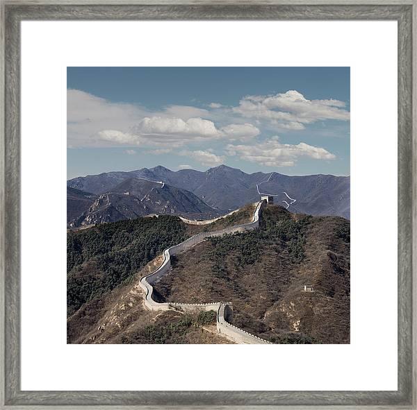 The Great Wall At Badaling, Beijing Framed Print by Ed Freeman