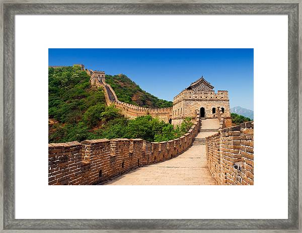 The Great Wall Of China Framed Print by Izmael