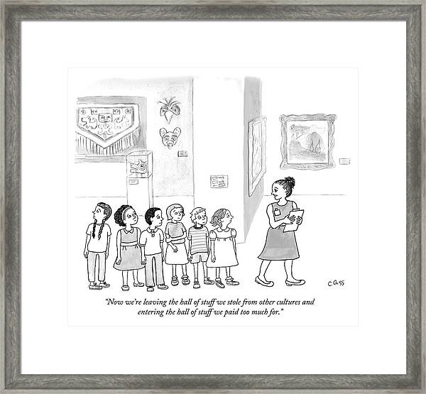 The Hall Of Stuff We Stole From Other Cultures Framed Print