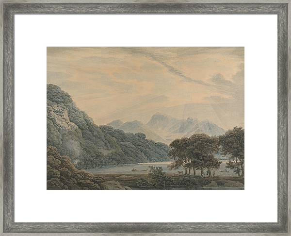 The Head Of Ullswater, With The Lodge Of Patterdale On The Left Framed Print