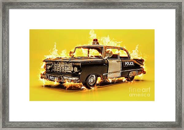 The Heat Framed Print