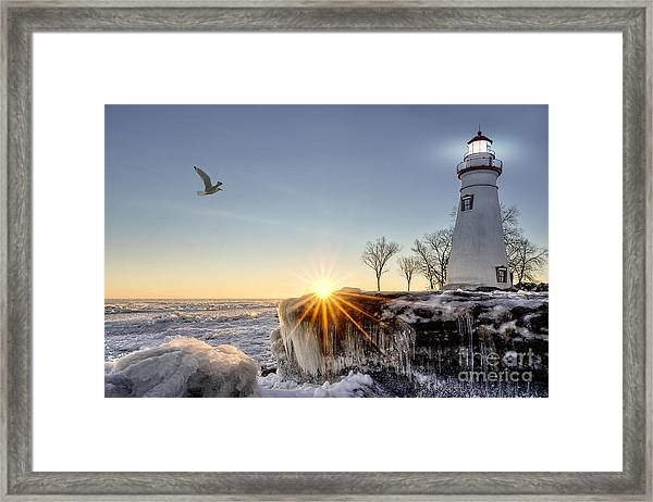 The Historic Marblehead Lighthouse In Framed Print