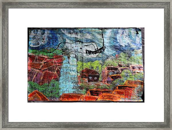 The Hues Brightened Life Seems Good Framed Print