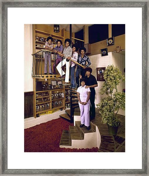 The Jackson Five & Their Parents Framed Print by John Olson