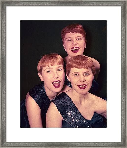 The Kaye Sisters Framed Print