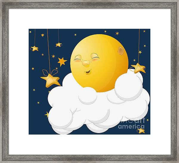 The Kind Moon On A Cloud Framed Print