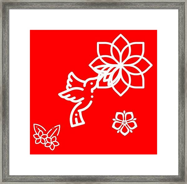 The Kissing Flower On Flower Framed Print