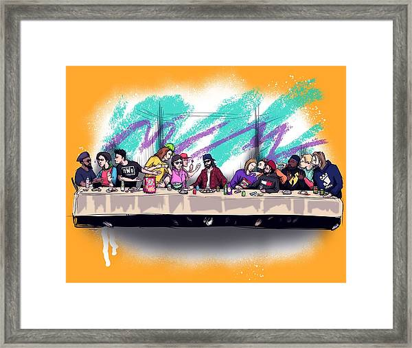 The Last 90s Supper Framed Print