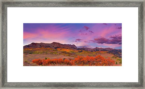 The Last Light Of September Framed Print