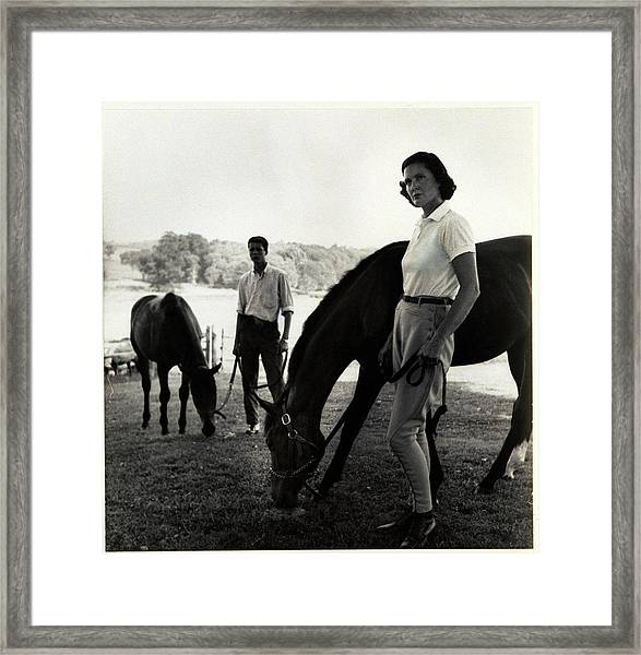 The Ledyards, Riding Framed Print by Toni Frissell