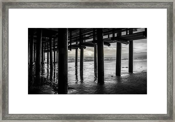 The Light Downunder - B And W Framed Print
