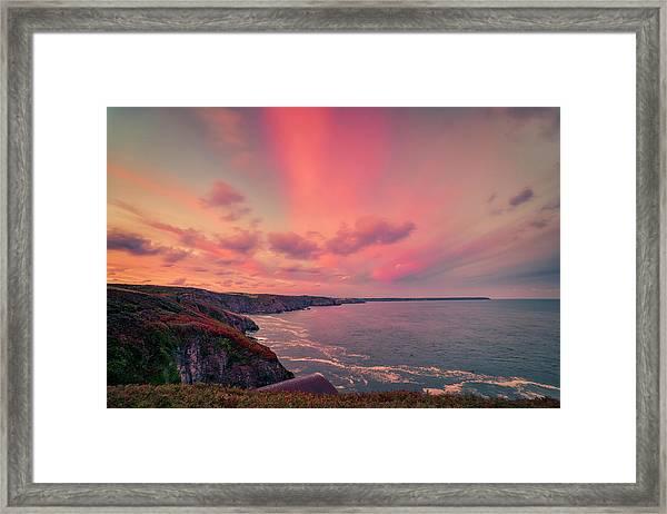 The Lizard Point Sunset Framed Print