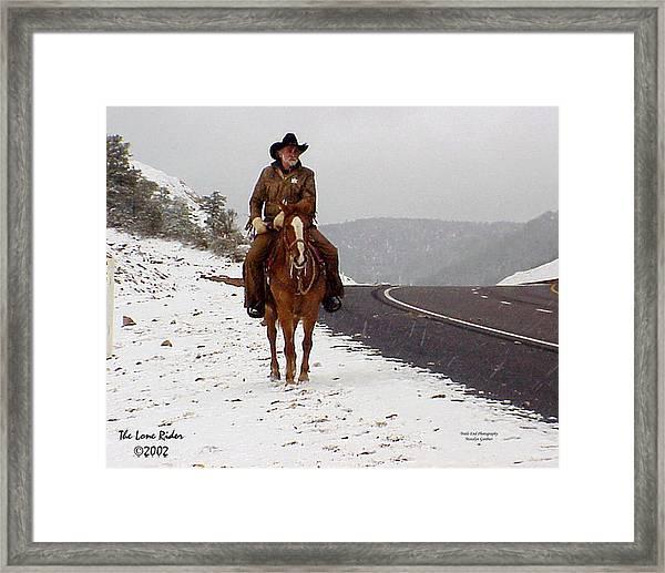 The Lone Ranger Framed Print