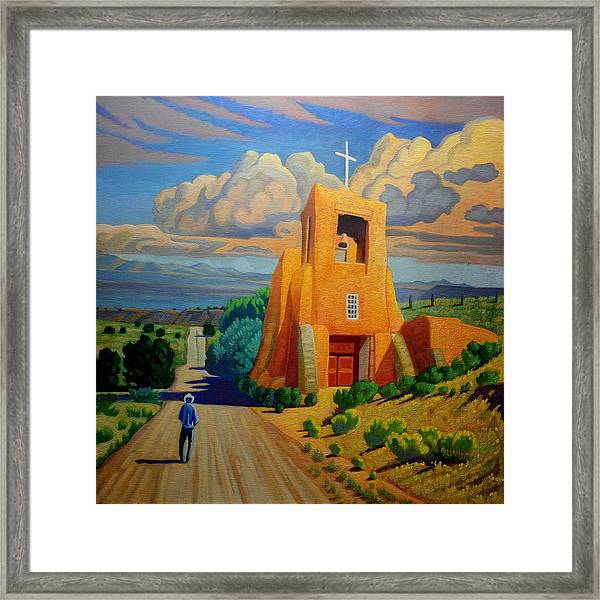 The Long Road To Santa Fe Framed Print