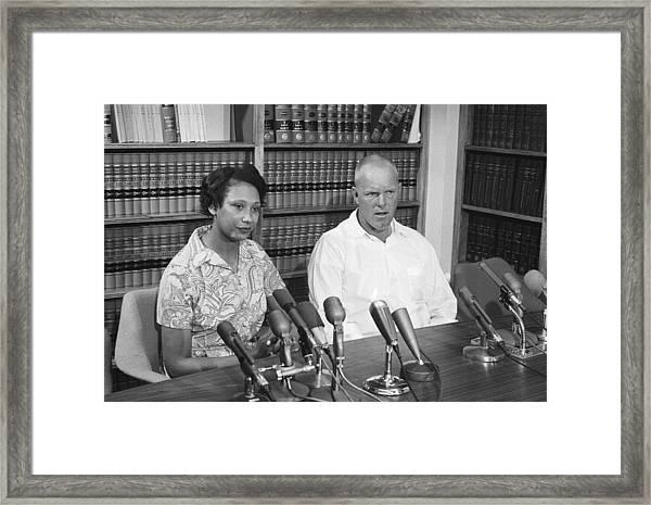 The Lovings Celebrate Supreme Court Framed Print