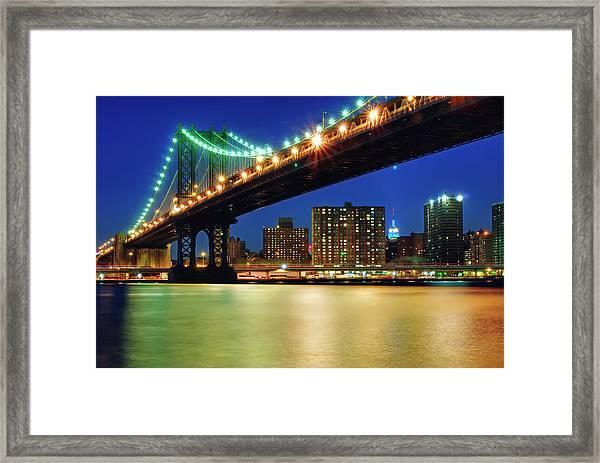 The Manhattan And Its Little Friend Framed Print