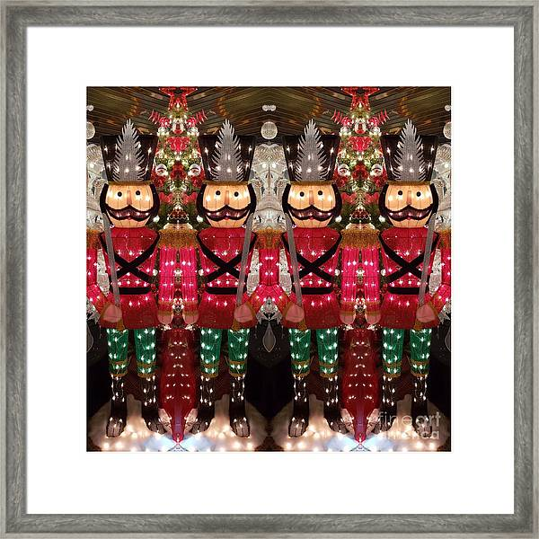 The March Of The Toy Soldiers Is On. Framed Print