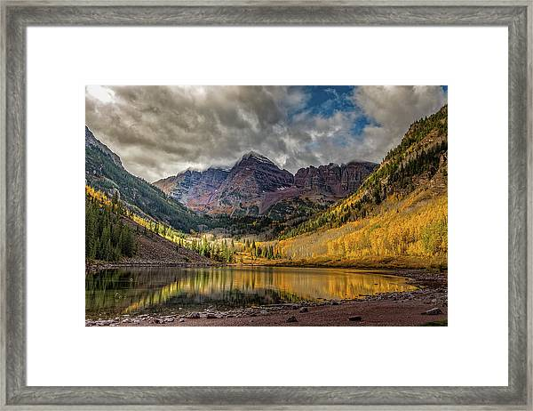 The Maroon Bells - Aspen, Colorado Framed Print