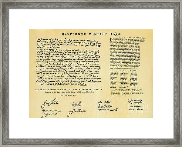 The Mayflower Compact  Framed Print