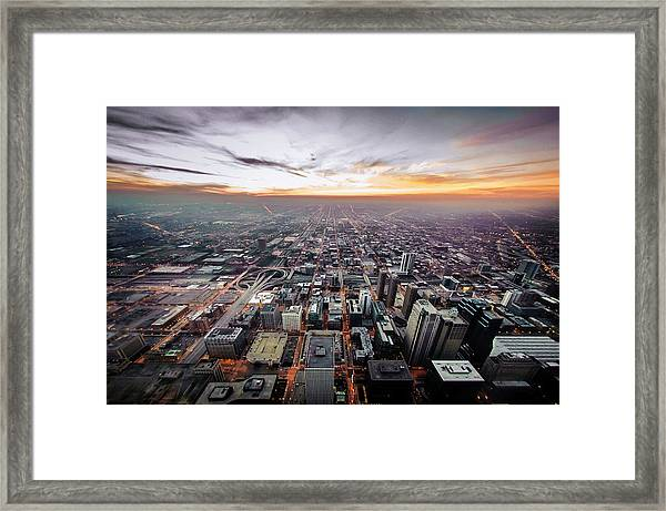 The Metropolis Looking West Framed Print by By Ken Ilio
