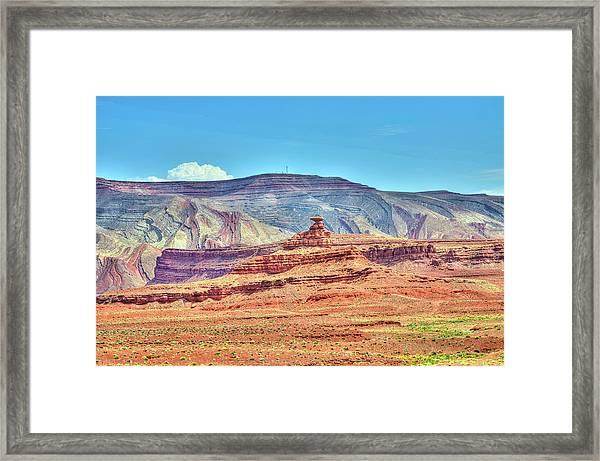 The Mexican Hat Rock - Utah Framed Print
