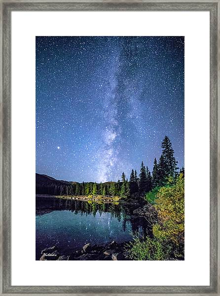 The Milky Way Over Echo Lake Framed Print