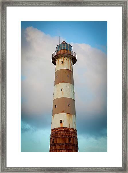 The Morant Point Lighthouse, Jamaica Framed Print