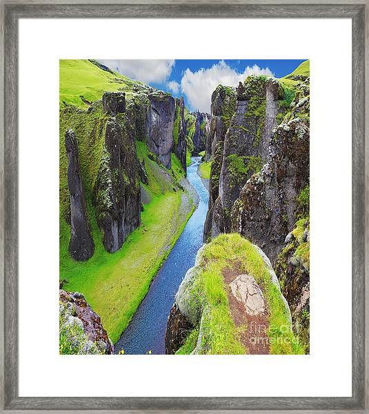 The Most Picturesque Canyon Framed Print