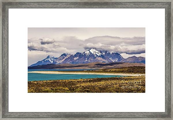 The Mountains Of Torres Del Paine National Park, Chile Framed Print