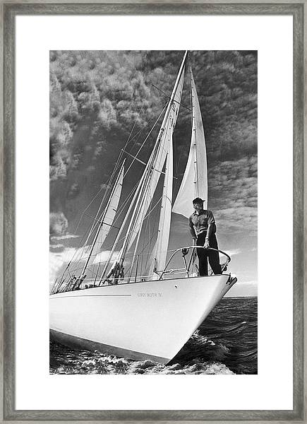 The Navigator Francis Chichester On His Framed Print