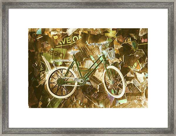 The News Cycle Framed Print
