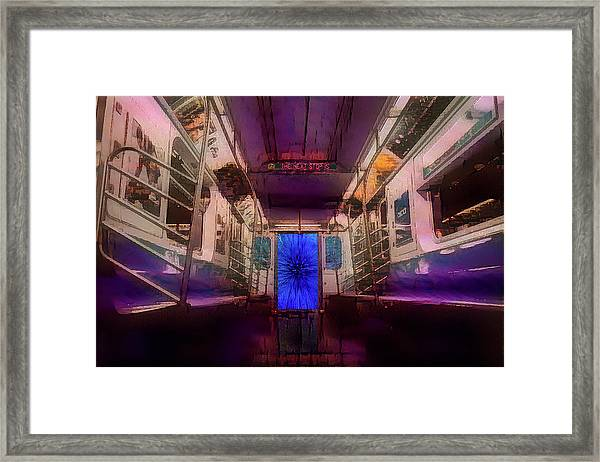 The Next Stop Is... Framed Print