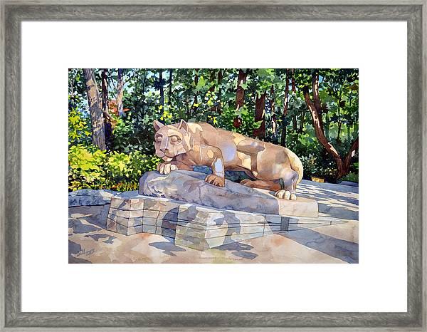 The Nittany Lion Framed Print