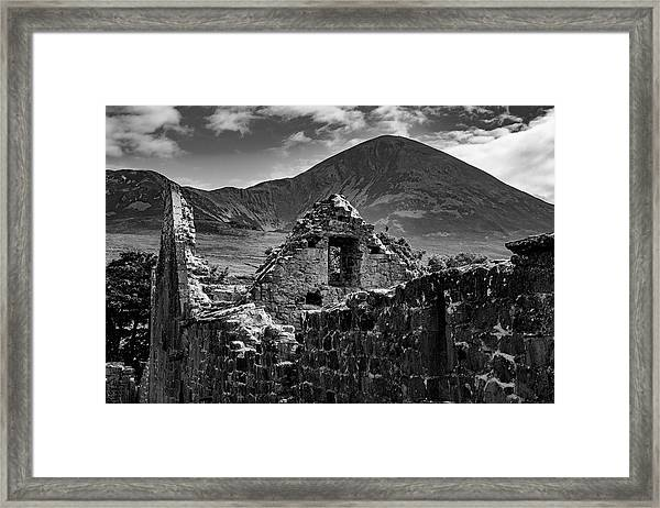 Murrisk Abbey At The Bottom Of Croagh Patrick Framed Print