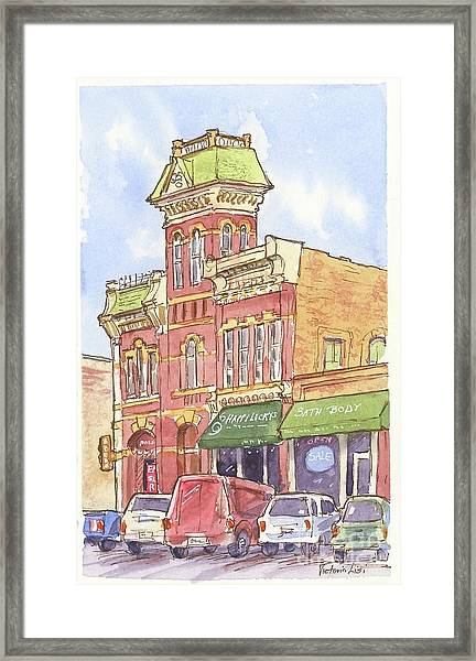 The Old Fire House Framed Print