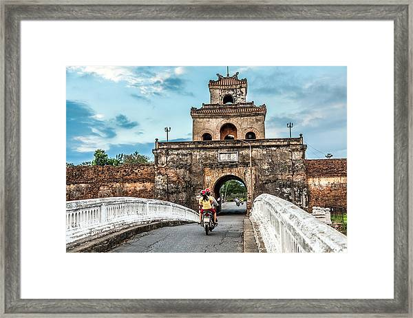 The Palace Gate, Imperial Palace Moat Framed Print