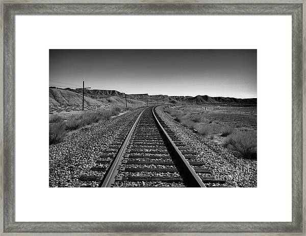 The Path In Desolation Framed Print