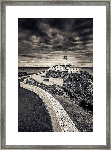 The Path To Fanad Head Lighthouse Framed Print