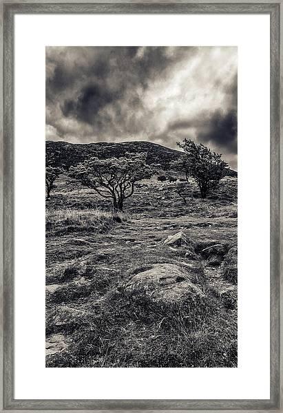 The Path Up Slemish Framed Print