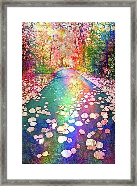 The Path Where Rainbows Meet Framed Print