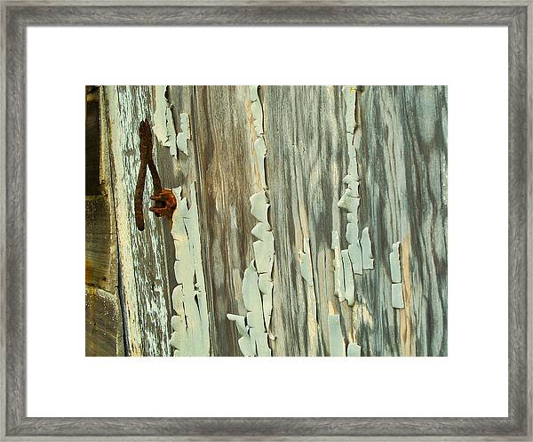 The Peeling Wall Framed Print
